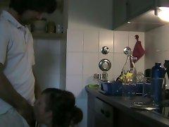 Amateur Brunette Quickie on Kitchen
