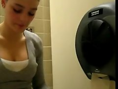 Masturbation in a public toilet