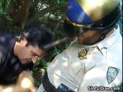 Hot Cop Blowjob