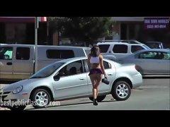 Sinn Sage Flirty Sexy Public Street Walk Part 2
