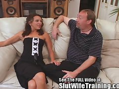 Aleena Gets Slut WifeTrained on Video for Her Hubby To Enjoy