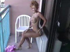 Sexy Mature naked on balcony!!