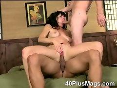 Double fucked mature slut