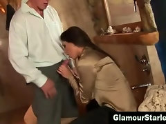Bunch of european amateurs get jerking and sucking on cock