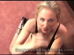 Amazing busty mature blonde whore Julia Ann loves big black cocks