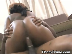 Chubby Black Ghetto Slut Fucked Very Roughly