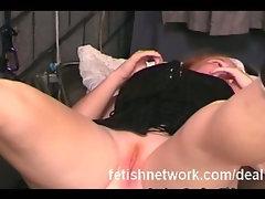 Curvy redhead punished