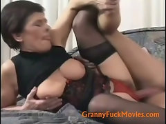 Old slut hard fucked from behind