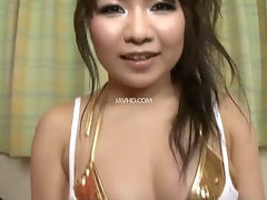 Meinas golden tits fondled before her hairy pussy is toyed