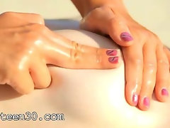 Incredible grass massage of hot babes