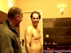 Doggystyle slut with a europan paying customer getting fucked