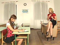 Teacher Kathia Nobili gives a lesson in threesomes