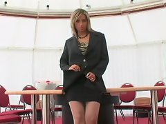 Eager office slut Daria Glower is horny and wants to get down to business