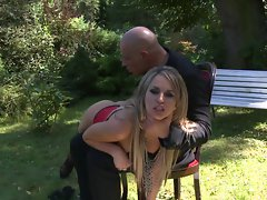 Aleksa Diamond goes outside and gets molested by an aggressive dick