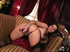Sexy Rebecca Linares loves toying her juicy moist pussy