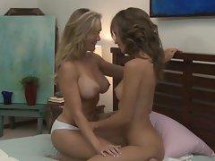 Tit and twat fun with  Malena Morgan and Brandi Love