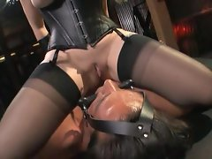 Aiden Starr is a hot dominatrix feeding a slave her big fat ass