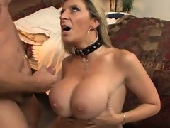 Dirty whore cop Sara Jay fucks her suspect hard and sucks some info from him