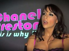Chanel Preston putting a great display showing the proper way to suck dick