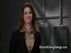 Bdsm redhead babe Cici Rhodes fucked by construction workers