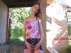 attractive Beata girl stripping