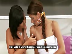 Klara and Carie stunning lesbian girls licking