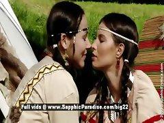 Devin and Klara from sapphic erotica lesbo girls teasing