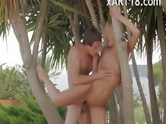 delicate luxury outdoor threesome