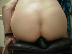cucumber in ass with prostate cumshot