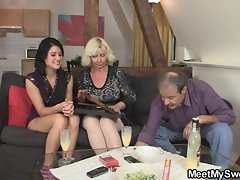 Sex partner and his parents having sex