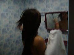 My lovely Ladyboy Sex partner is taking a shower