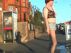 Luscious transsexual on the streets looking for dick