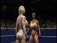 FPZ3D S vs G 3D Toon Fistfight Catfight Large melons One-Sided
