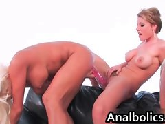 Great alluring butch gangbang with Carrie