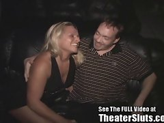 Birthday Slut's Public Porn Cinema Sex Celebration