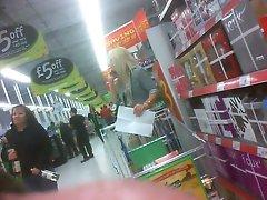 Light-haired shopper