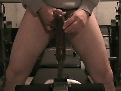 Anus rubber toy ride and jacking off