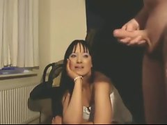 Comely LADY WATCHES Young man EJACULATE