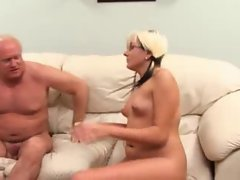 German Teen -Fucked By 2 Old Dudes