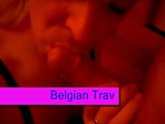 Belgian trav blowing biker