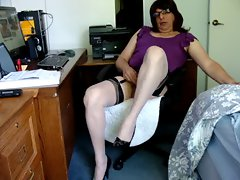 Masturbating in New Bi Color Nylons