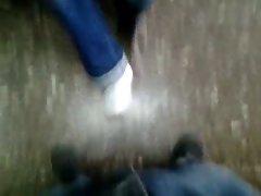 Mi  muy divina amiga de nuevo acariciandome con su pies 8