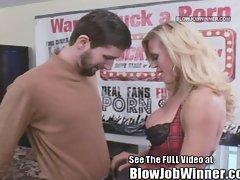Amber Lynn Blowing Devoted Fan Jon