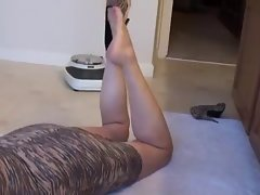 Mature mom foot tease