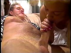 Sexy blonde anal fucked wearing white slip in living room
