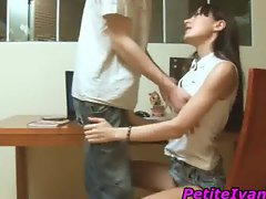 Teen gets panty licked upskirt