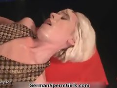 Blonder German girl gets fucked in a GGG part6