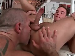 Hunky guy gets anus rimmed 5 By GotRub part4