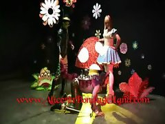 Mad Tea Party AliceInBondageLand Cheshire Cat Mad Hatter BDSM