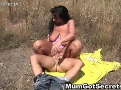 Horny MILF gets fucked hard outdoor free part2